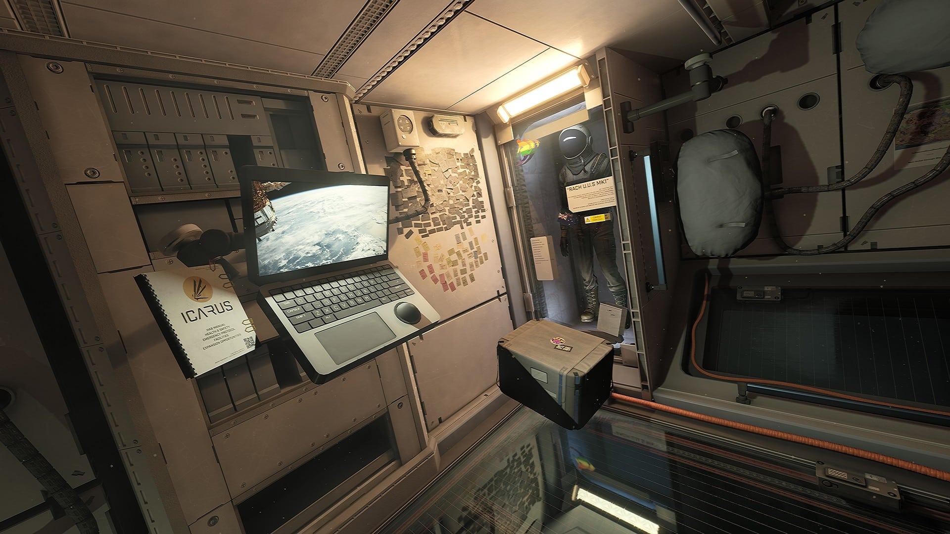 Icarus: Auf der Orbitalstation kannst du Technologien erforschen, die dir in der nächsten Mission helfen.